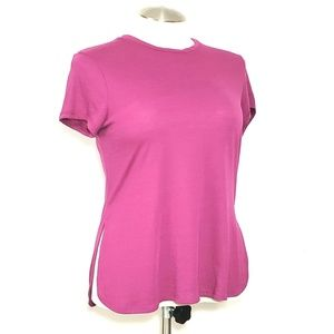 Athletic Works Cranberry T-Shirt with Side Slits